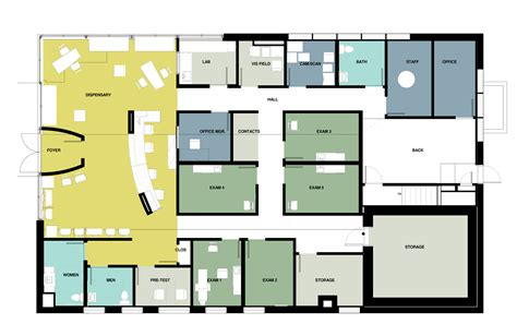 optometry office floor plans optometry office renovation sealander architects