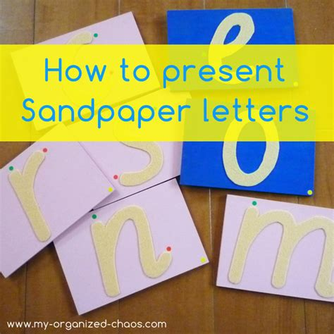 Free Printable Montessori Sandpaper Letters | how to make montessori sandpaper letters my organized chaos
