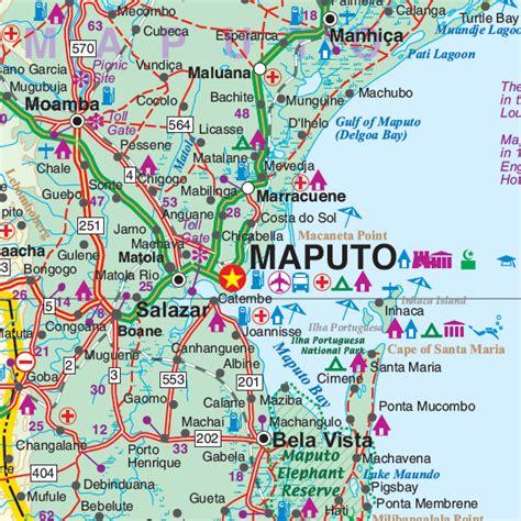 Wegenkaart   landkaart Malawi & Mozambique   ITMB