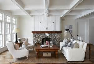 coffered ceiling cottage living room muskoka living