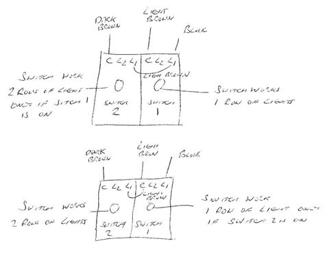 2 1 way light switch wiring diagram uk efcaviation