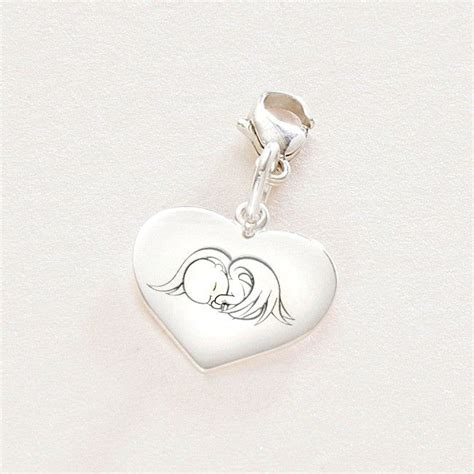 Pandora Charm Of Baby Feeder Sterling Silver P 474 sterling silver charm with baby engraving someone remembered