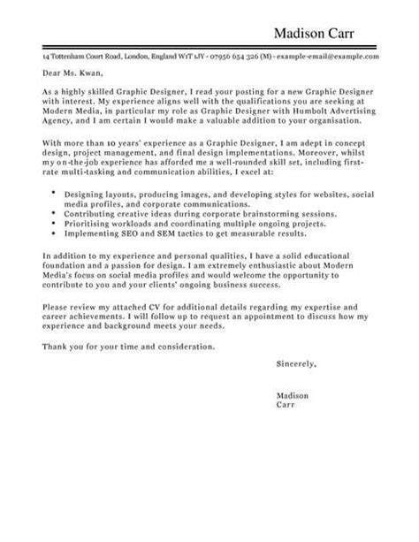 marketing graphic designer cover letter template cover