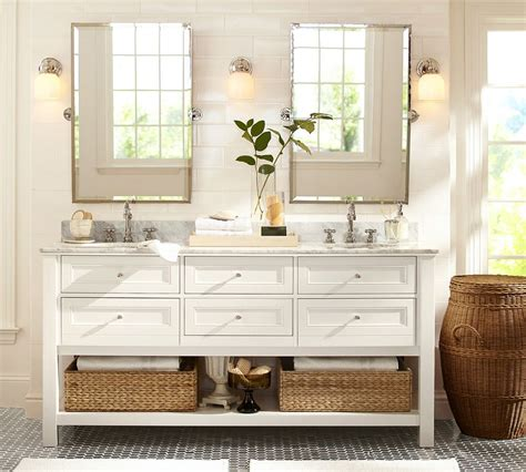 Bath Reno 101 How To Choose Lighting Pottery Barn Bathroom Mirror