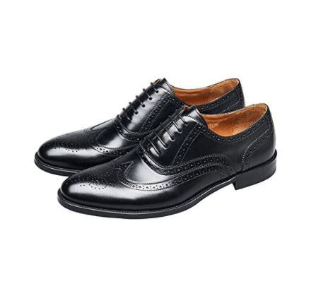 Brogue Pointed Oxfords kingstep men s business leather brogue dress shoes pointed