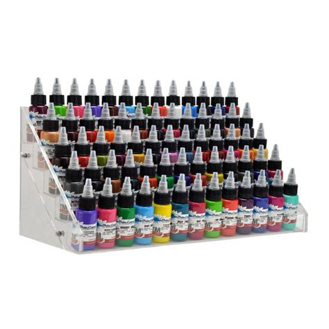 tattoo ink display clear acrylic tattoo large ink display stand 5 tier rack