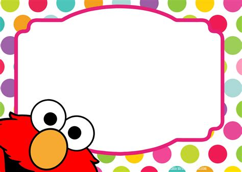 elmo template for invitations sesame birthday invitation template free