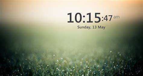 rainmeter themes clock the big clock skin by ikhrome on deviantart