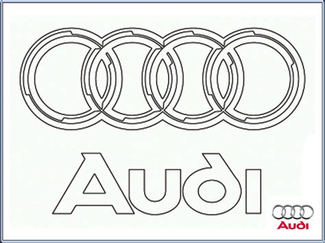 coloring pages car logos audi logo coloring pages printable realistic coloring pages