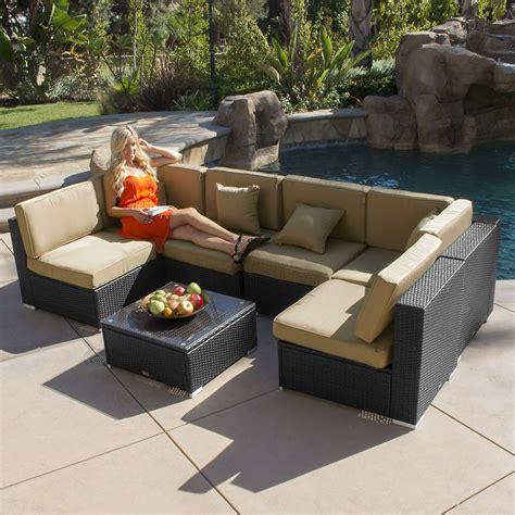 aluminum wicker patio furniture 7pc outdoor patio rattan wicker furniture aluminum