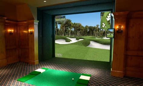 cave swing golf simulator traditional home