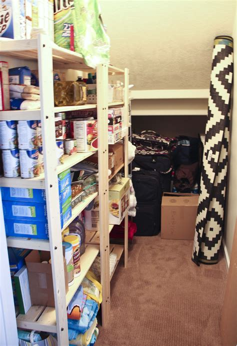How To Organize A Pantry With Deep Shelves by Storage Room Organization Honeybear Lane