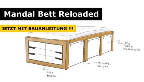 Ikea Bett Kommode by Ikea Hack Mandal Kommoden Bett Bett Stauraumbett Und