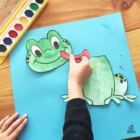 kindergarten paper crafts frog craft template for kindergarten 1st grade 2nd grade