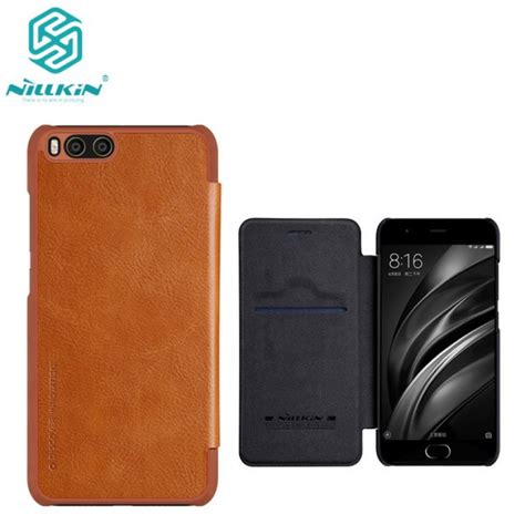 Nillkin Frosted Casing Cover For Xiaomi Mi6 Hitam nillkin qin series for xiaomi mi 6 xiaomi mi6 5 15 us 14 0 nillkin