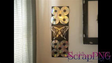 homemade wall decor decobizz com cd wall decoration diy how to tutorial youtube
