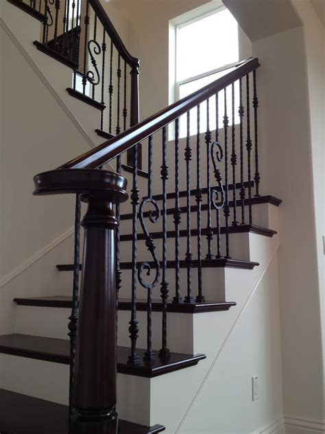 banister iron works dark floors wrought iron stairs home pinterest