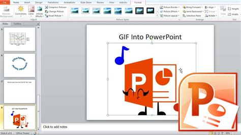 powerpoint tutorial point how to insert gif image in powerpoint create powerpoint