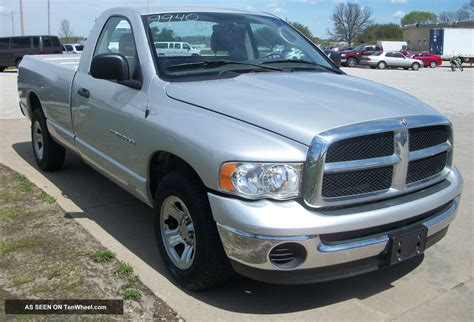 dodge ram 1500 2wd 2004 dodge ram 1500 2wd slt reg cab silver tow package 9940