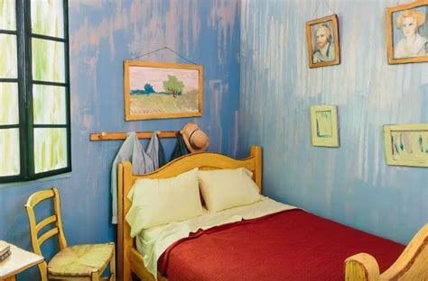 spend night in van gogh bedroom decorator notebook