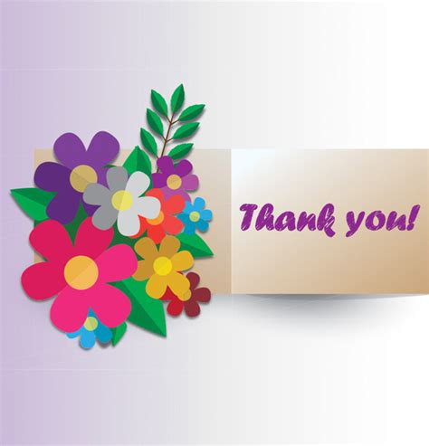paper flower greeting card free vector in adobe