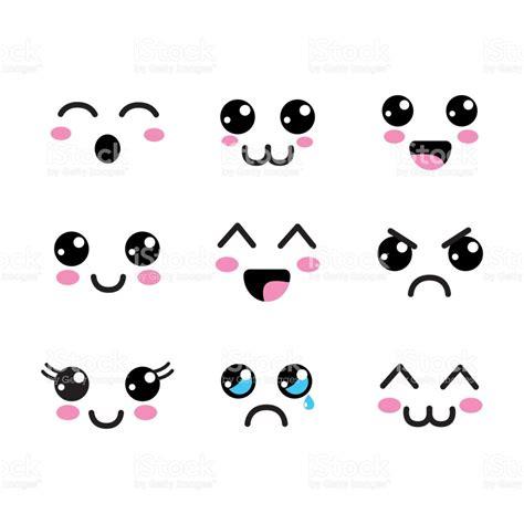 imagenes de ojos kawaii 237 cone de olhos rostos kawaii arte vetorial de acervo e