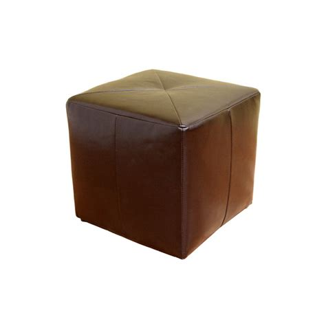 leather ottoman brown wholesale interiors aric bicast leather ottoman brown st