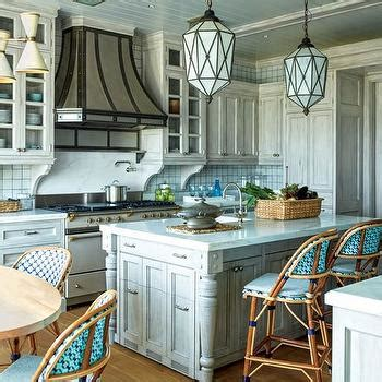 Distressed Blue Kitchen Cabinets Distressed Kitchen Cabinets Eclectic Kitchen