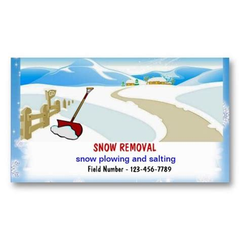 Snow Plowing Business Cards