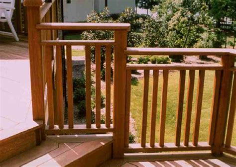 Ideas For Deck Handrail Designs Wood Deck Handrail Designs Unique Hardscape Design