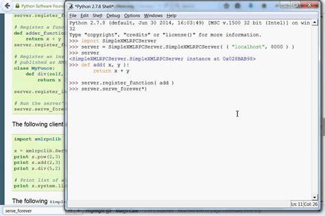 xml rpc python xml rpc 03 simple server youtube