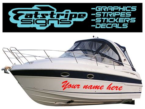 boat name stickers boat name graphics stickers decals custom name x3 ebay