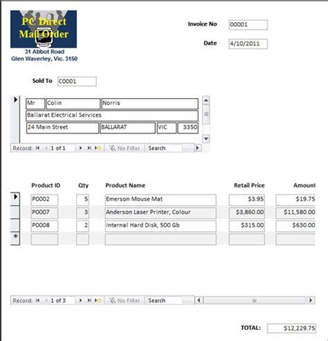 invoice template access microsoft access invoice rabitah net