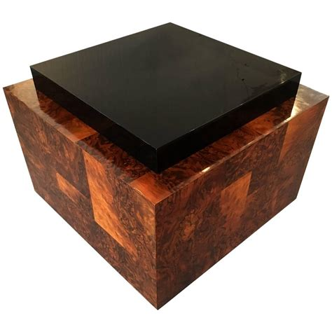 Patchwork Wood Furniture - burl wood patchwork table by paul for sale at 1stdibs