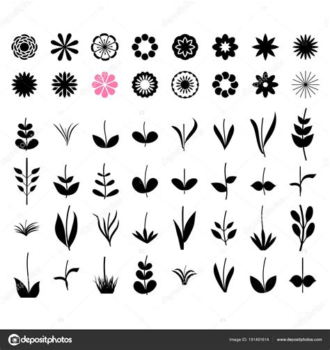 un insieme di fiori il progettista di fiori un insieme di elementi semplici