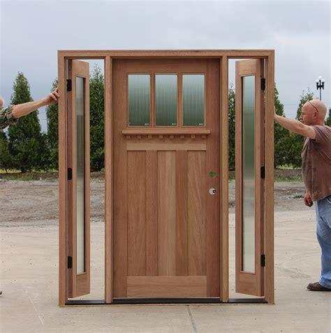 doors with sidelites craftsman door with venting sidelites