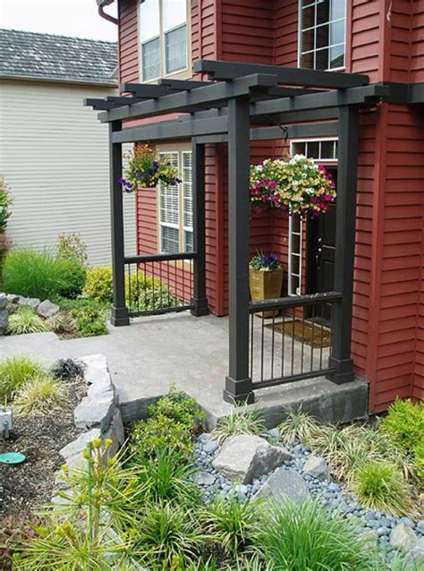 front door pergola amanda rapp design in progress exterior