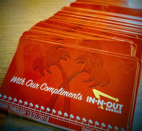 In And Out Gift Card - in n out donates 140 gift cards to erhs students the cnusd connection