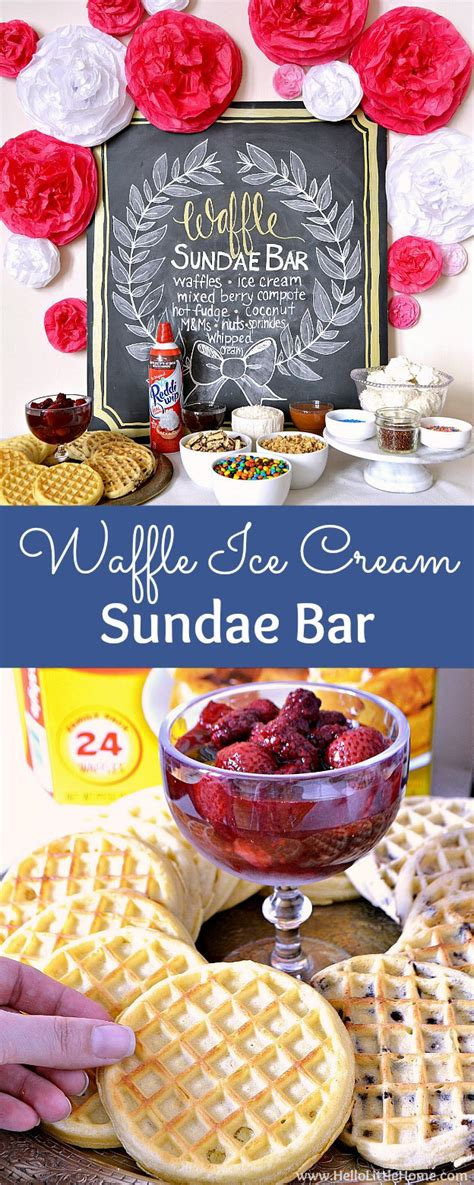 sundae bar topping ideas waffle ice cream sundae bar hello little home