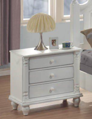 how should a nightstand l be nightstand in distressed white o deals weather