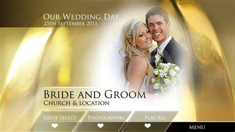 digital video team rings of gold wedding dvd menu