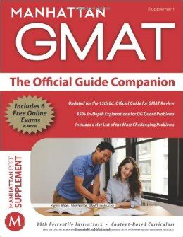 Manhattan Mba Guide by Book Review The Manhattan Gmat Official Guide Companions