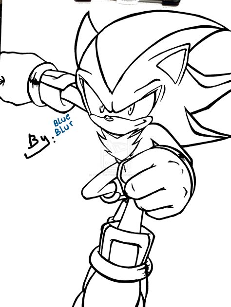 shadow sonic coloring pages freecoloring4u com