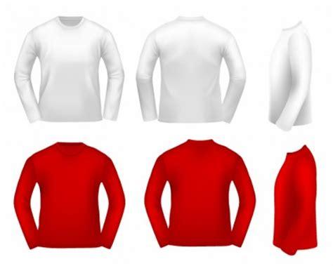 Kerah Baju Vektor pakaian lengan putih pria t shirt sweter vektor kemeja panjang template desain