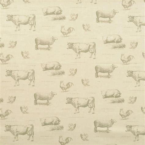 kitchen curtain fabric by the yard farmyard curtain fabric charcoal great range of