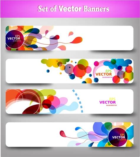 header design sle abstract colorful web headers free vector in adobe