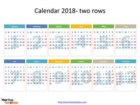 Calendar template 2018   Free PowerPoint Templates