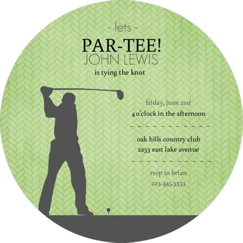 bachelor invitation cards templates green and grey golf bachelor invitation bachelor
