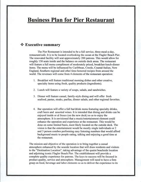 restaurant business plan template pdf top 5 resources to get free restaurant business plan