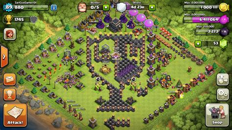 best wall pattern in clash of clans clash of clans town hall 9 farming base memes